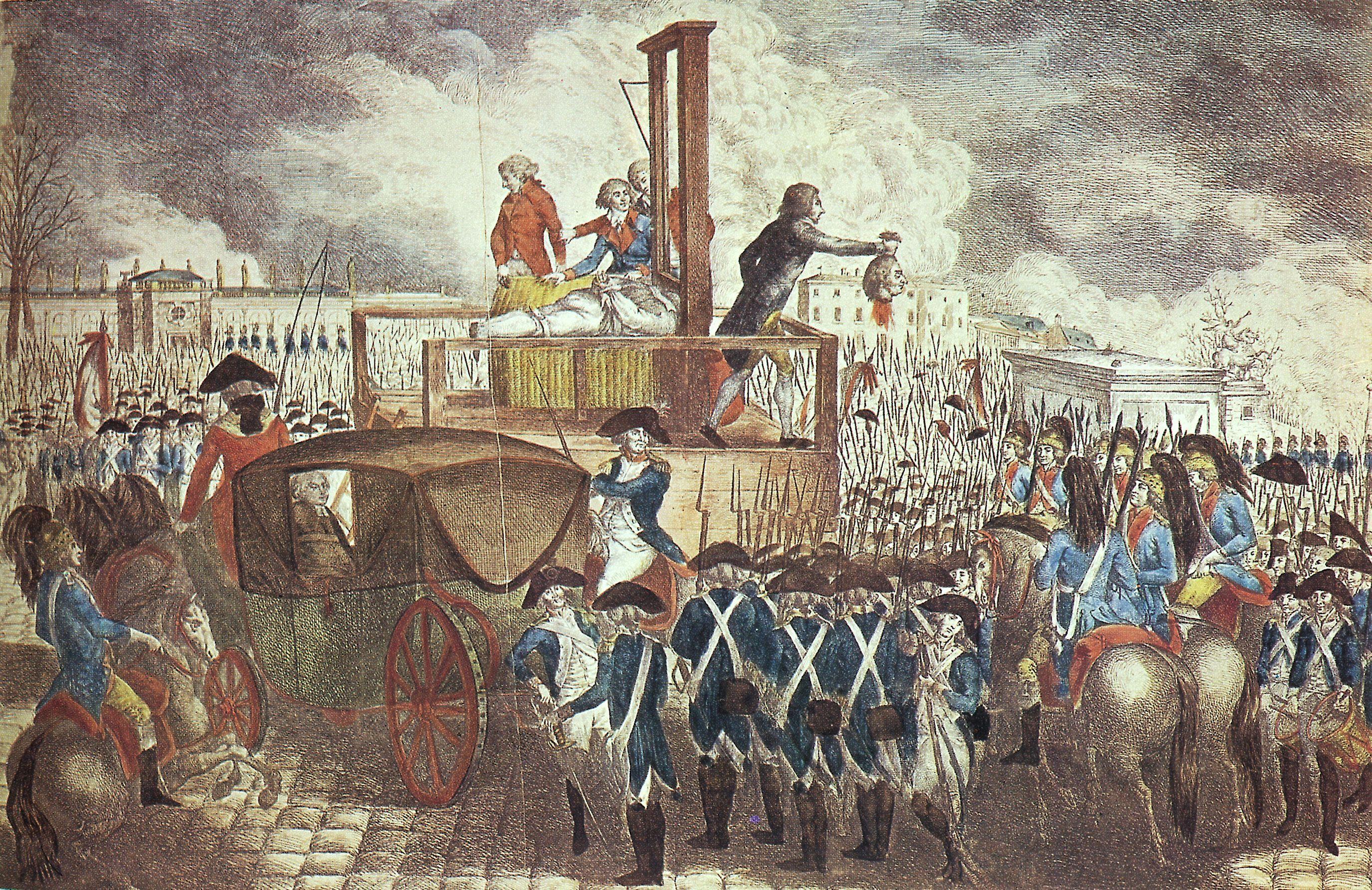 La Rivoluzione Francese ha provocato direttamente la morte di 500.000  esseri umani (più, in via consequenziale, 1.500.000 causati dalle guerre  napoleoniche)